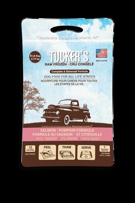 Tucker's Frozen Dog Food Patties - 6 lb Salmon & Pumpkin