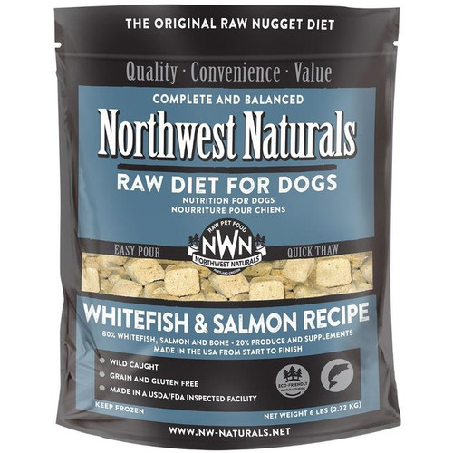 NWN Frozen Raw Dog Food Whitefish & Salmon 6 lb Nuggets