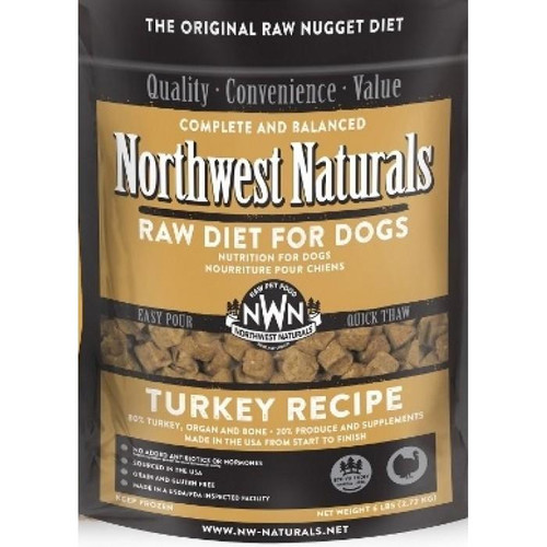 NWN Frozen Raw Dog Food Turkey 6 lb Nuggets