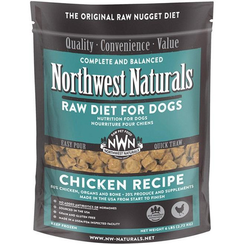 NWN Frozen Raw Dog Food Chicken 6 lb Nuggets