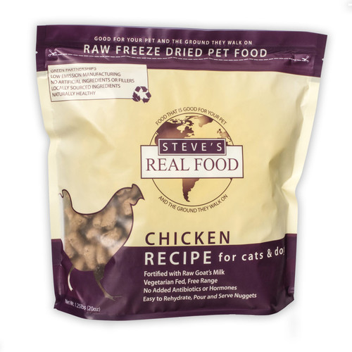 Steve's Real Food Freeze Dried Nuggets 1.25 lb
