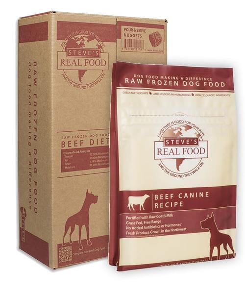 Steve's Real Food Beef Patties 13.5 lb Bulk Box