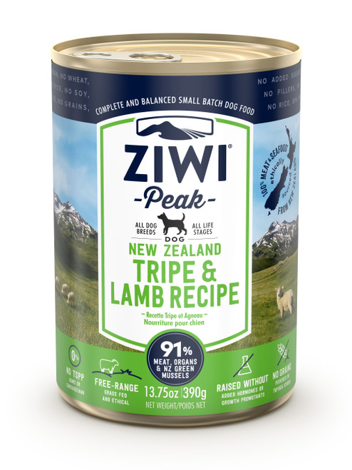 Tripe and Lamb Ziwi Cans