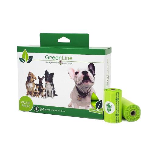 Green Line Poop Bags Bulk Box
