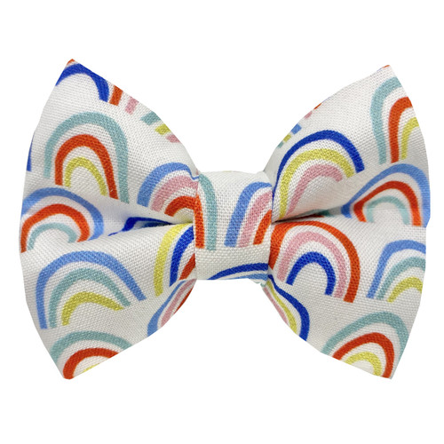 Rainbow Connection Dog Bow Tie