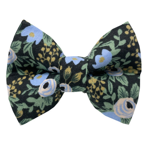 Midnight Rendezvous Dog Bow Tie
