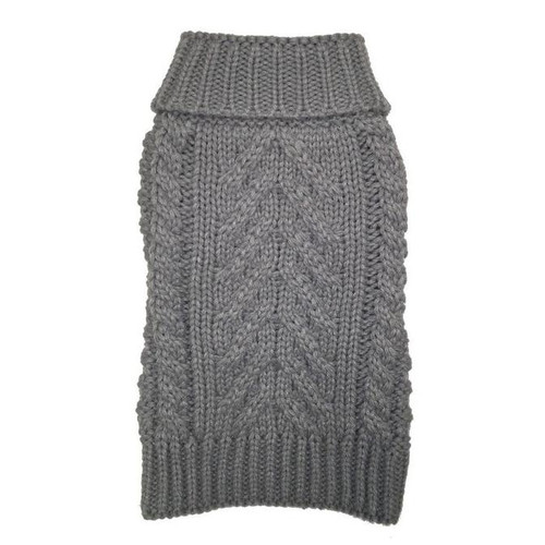 Fabdog Chunky Turtleneck Heather Grey Sweater