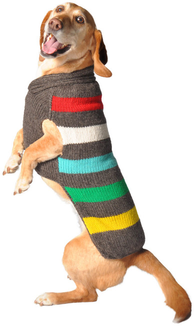 Charcoal Stripe Dog Sweater