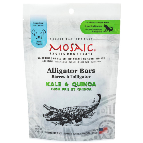 Mosaic Alligator & Kale Treats- 3oz