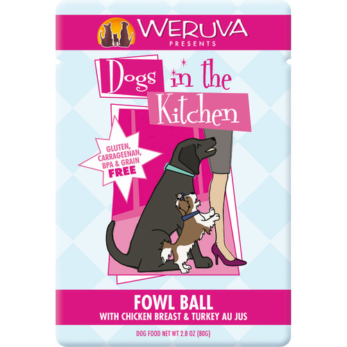 Weruva Dogs in the Kitchen 3oz Pouch Fowl Ball