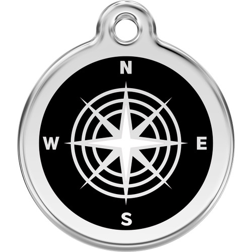 Red Dingo Enamel Compass