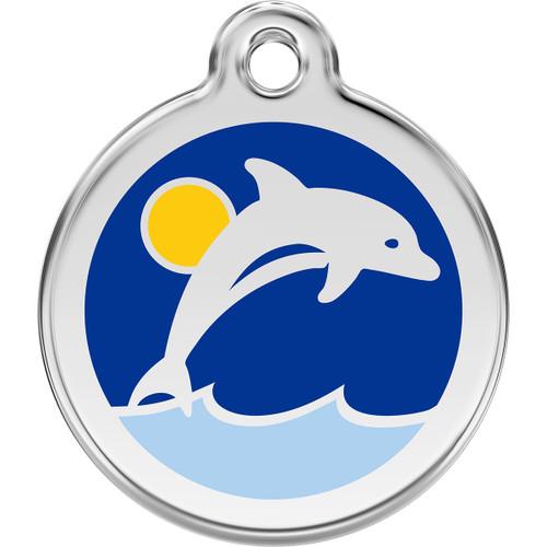 Red Dingo Enamel Dolphin