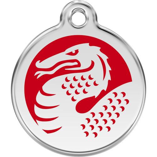 Red Dingo Enamel Dragon Red