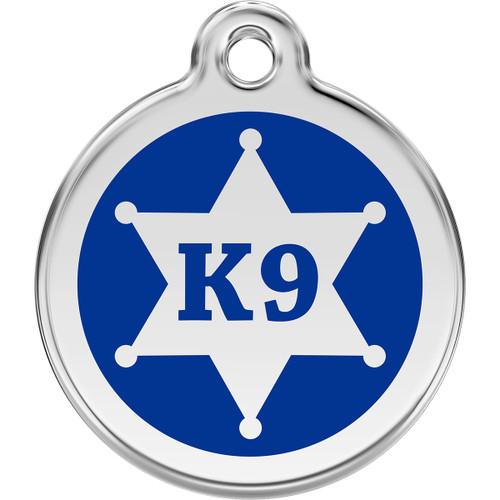 Red Dingo Enamel K9 Blue