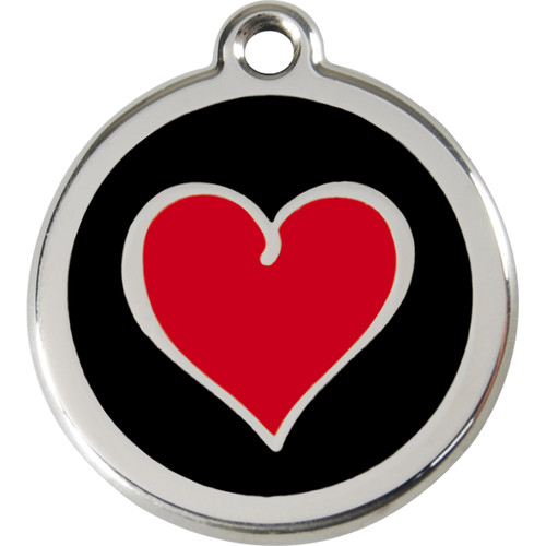 Red Dingo Enamel Silverheart Black