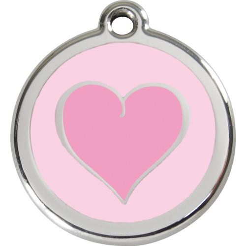 Red Dingo Enamel Silverheart Pink