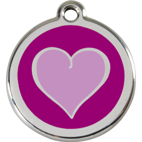 Red Dingo Enamel Silverheart Purple