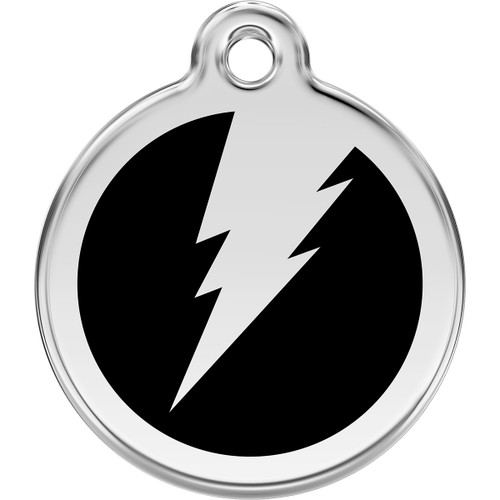 Red Dingo Enamel Lightning