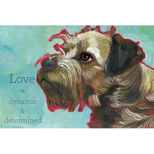 Ursula Dodge Border Terrier Magnet