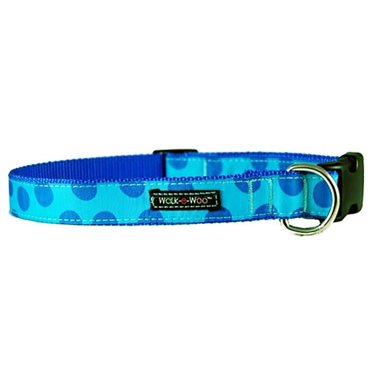 Walk-E-Woo Blue Dots on Turquoise