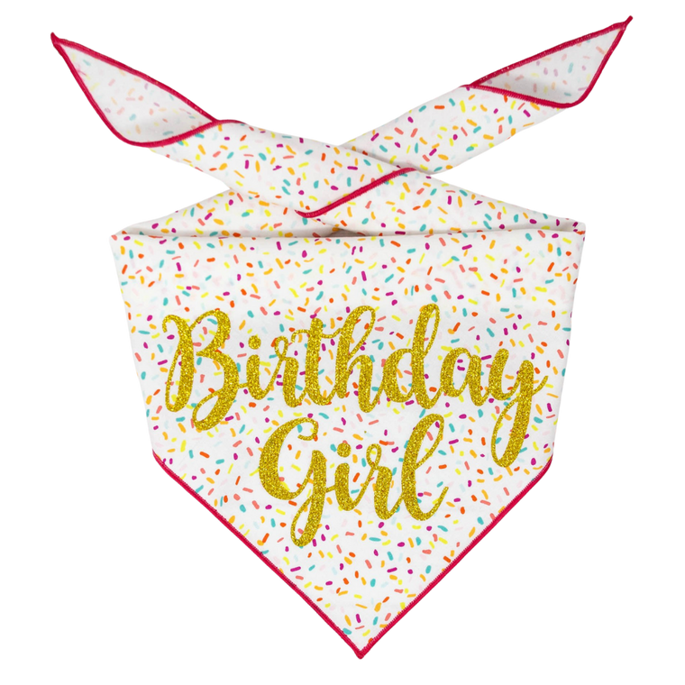 Birthday Girl Bandana - Large