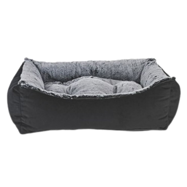 Bowsers Scoop Bed - Royal Sterling Faux Fur