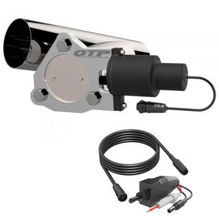 3 inch Single Exhaust Electric Cutout Combo Kit, QTP