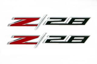 NEW OEM Fender Emblem Nameplate Z/28 Right & Left Set Chrome Camaro 22925211
