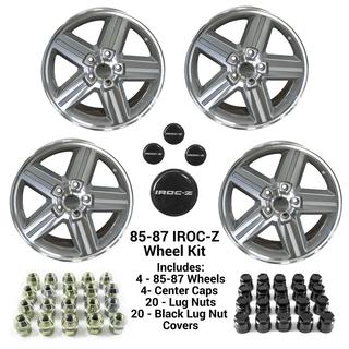 85-87 Camaro 17 x 9 IROC-Z  GRAY Wheel Kit - FREE SHIPPING