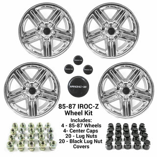 85-87 Camaro 17 x 9 IROC-Z CHROME Wheel Kit - FREE SHIPPING