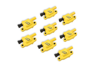 GM LS2/LS3/LS7 Engines Supercoil Ignition Coil, Yellow, SET of 8, Accel