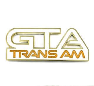 87-92 Trans Am GTA Side Fender Emblem, White