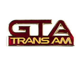 87-90 Trans Am GTA Side Fender Emblem, Flame Red
