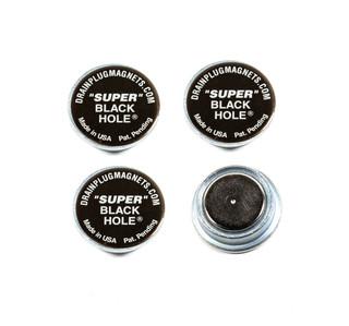 Super Black Hole Engine Oil Magnets, 4-Pack, Dimple