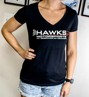 Hawks Motorsports Women V-Neck T-Shirt
