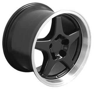 93-2002 Camaro SS / ZR1 Wheel Set of 4 (96-99 SS style), 17x9.5 Fronts /17x11 Rear, Black, OE Replica