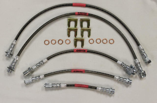 82-84 Camaro / Firebird Front Disc & Rear Drum StopFlex Braided Brake Line Kit (3pc)