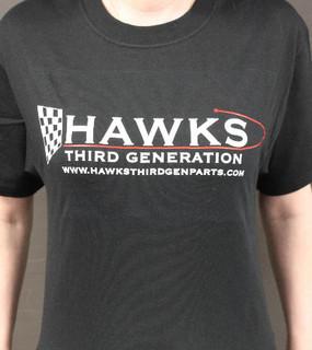 T-Shirt, Hawks Third Generation T-Shirt, Black with Logo
