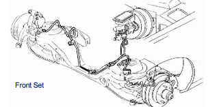 82-83 Camaro / Firebird, Power Disc Front Brake Line Set, 4 piece