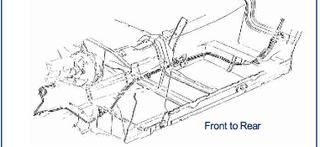 82-83 Camaro / Firebird, Power Disc Front to Rear Brake Line