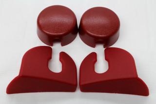 **CLEARANCE** 82-92 Camaro / Firebird Rear Hatch Strut Cover Trim Kit, Red, New Reproduction