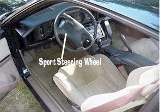 82-92 Firebird Sport Steering Wheel, Used only available, air bag not included