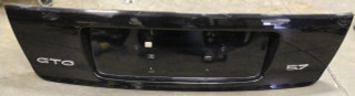 04-06 GTO Rear Trunk License Plate Filler Panel, USED OEM