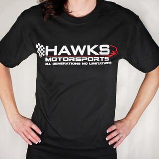 Hawks Motorsports T-Shirt, Black with Logo