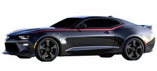 2016 Chevrolet Camaro Side Spear Decal Stripes