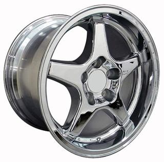 93-2002 Camaro SS / ZR1 Wheel Set of 4 (96-99 SS style), 17x9.5 Fronts / 17x11 Rears, Chrome, OE Replica