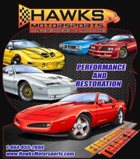 T-Shirt, Hawks Motorsports T-Shirt All Firebird, Black