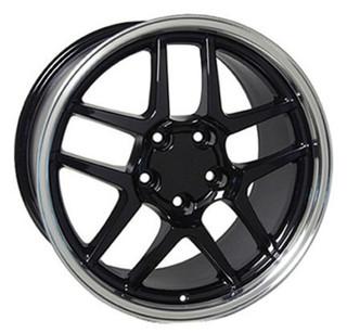 C5 Z06 Black 17x9.5  Wheels, Set of 4, Replica