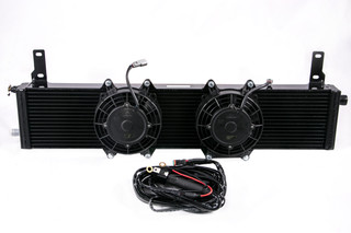 Universal Supercharger Heat Exchanger w/ Fans & Plug & Play Wiring Harness