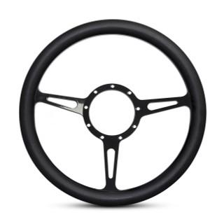 Classic Billet Steering Wheel Matte Black Spokes